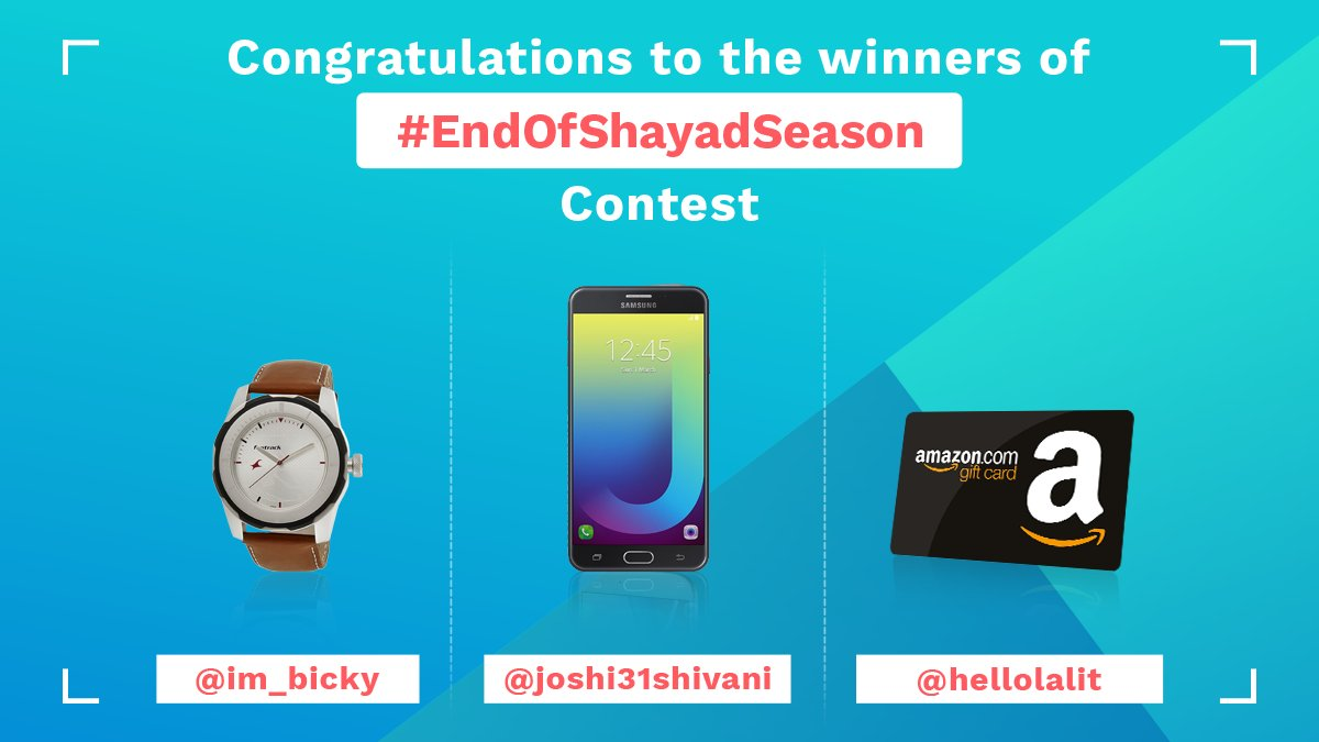 test Twitter Media - Congratulations :) Keep participating and winning. Cheers!  #EndOfShayadSeason #ContestWinners https://t.co/9LUFfLx23Y