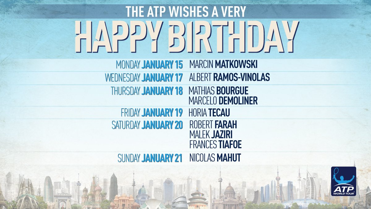 Join us in wishing a Happy Birthday to all our ATP �� 's celebrating this week! https://t.co/co5gIB0HaV