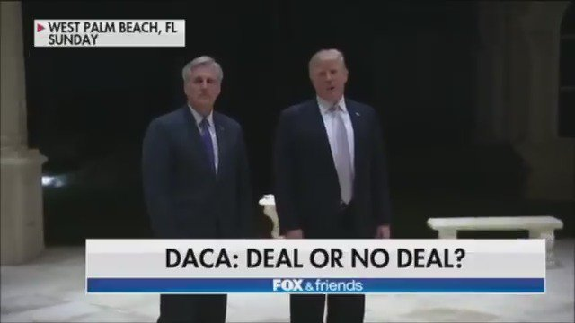 Deal or no deal: President Trump aims to reach deal on DACA, but are Dems interested? https://t.co/9WqhHXDrXg