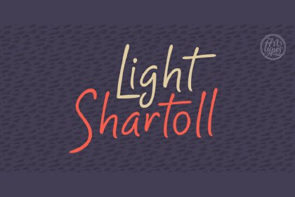 Shartoll Light Free Typeface Display freebies design SocialMedia