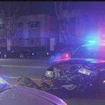 Speeding car slams into police cruiser in Lincoln Park
