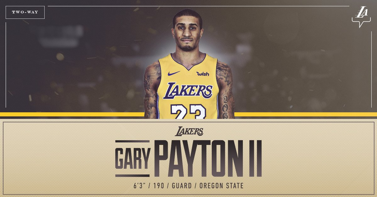 OFFICIAL: Lakers sign guard Gary Payton II to a two-way contract.  ��: https://t.co/LHWTBI5qyj https://t.co/53MmrCoRx5