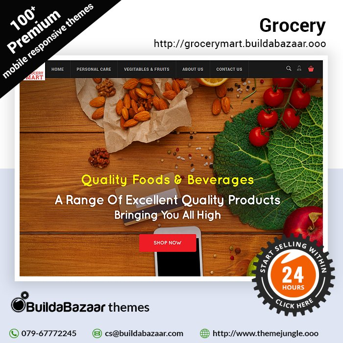 test Twitter Media - Creating a #digitalstore for groceries has never been so easy, you can now #createonlinestore in less than 24 hr. Sell more with https://t.co/bH01QTwNml's wonderful & free themes for ur grocery store. #infibeam #buildabazaar #themejungle #buildabazaartheme https://t.co/u5Q2pMGxub https://t.co/fkoTLBxOTO
