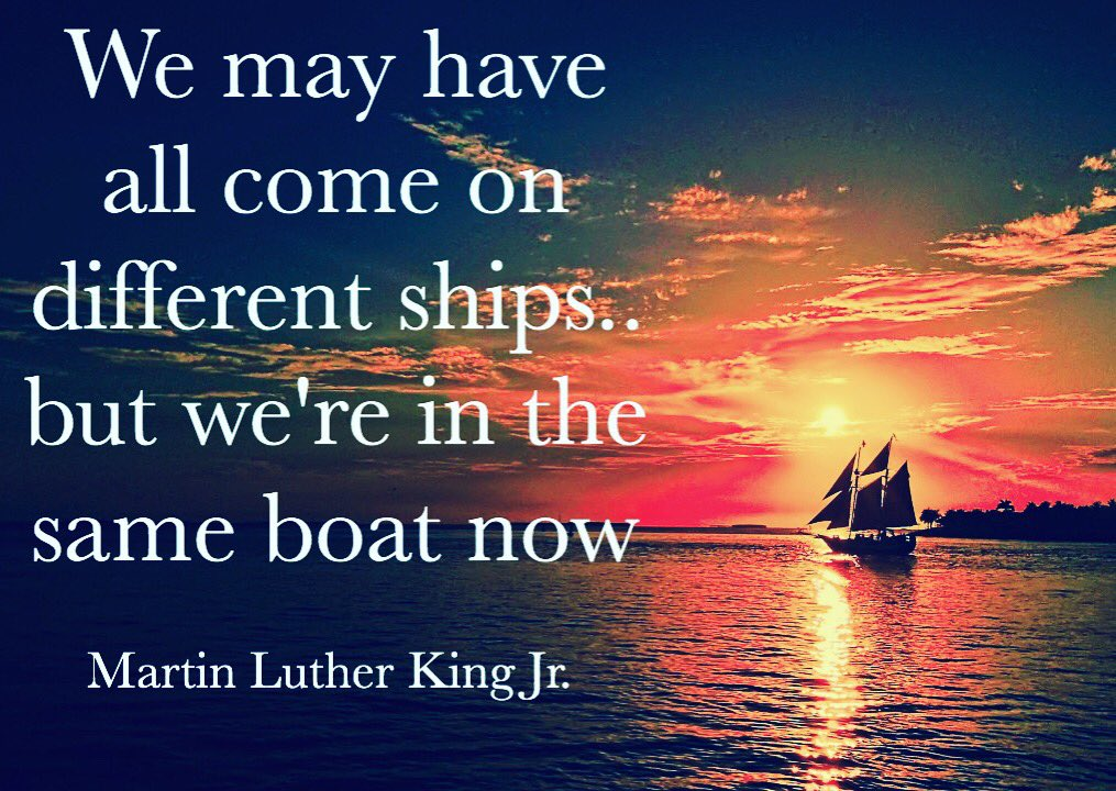 We're all in this thing together.. Beautiful words from Martin Luther King Jr. #MLKDay https://t.co/e3JwoS8FuD