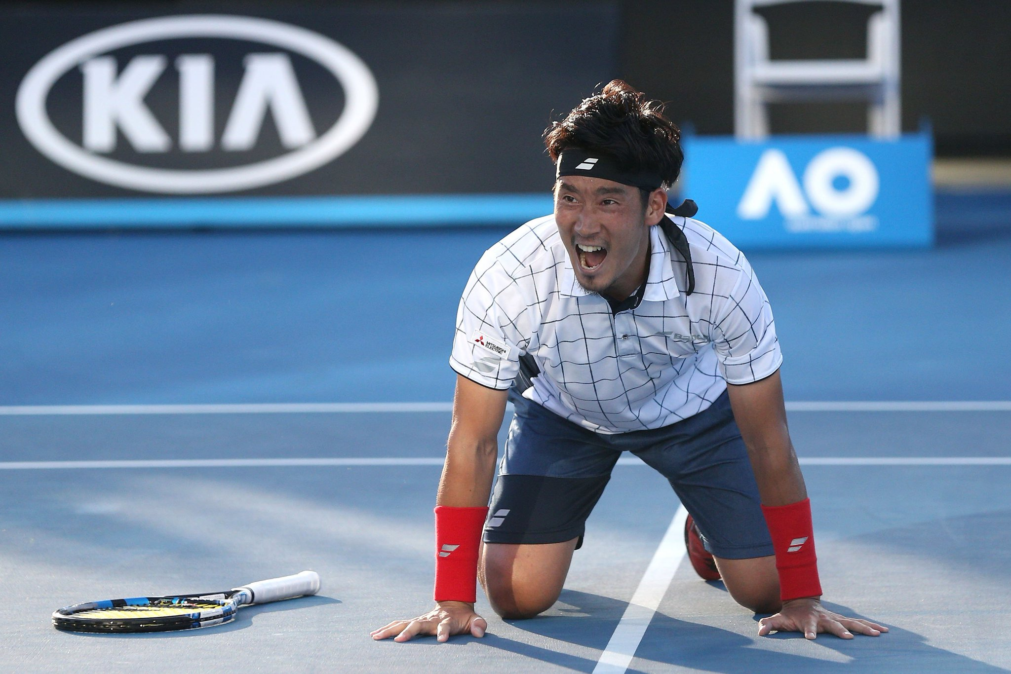 A stunner from Sugita!  ���� star takes down a seed in the #AusOpen 1R ➡️ https://t.co/nUaUreYiHu https://t.co/LITglcYQnP