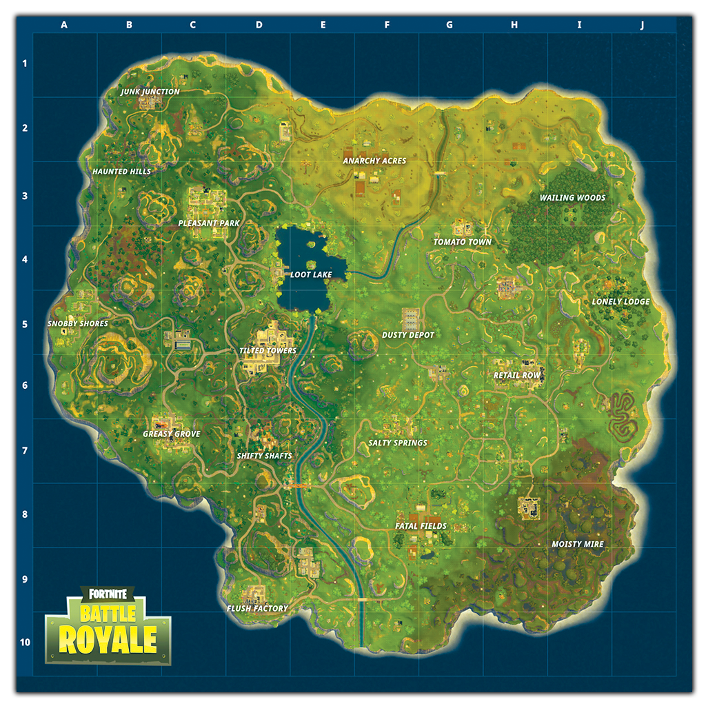Worlds First Look At The New Fortnite Map Check Out All 10 New