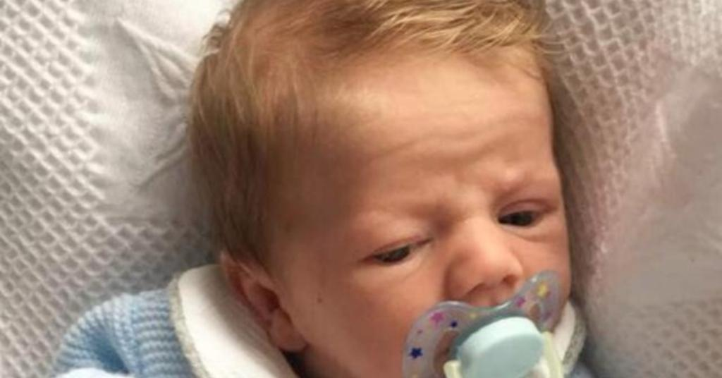 This four-week-old baby is the spitting image of Gordon Ramsay