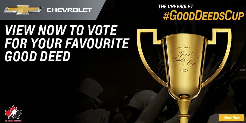 test Twitter Media - The #GoodDeedsCup semi-finalists have been selected! From January 15-28, help support your team of choice by watching the Top 10 submission videos on @ChevroletCanada's YouTube channel. Every view counts as a vote. Happy watching! https://t.co/OAZrybf6a5 https://t.co/gKsdHEirpm