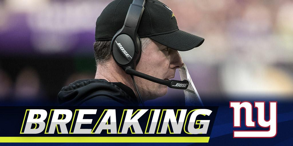 Giants expected to hire Pat Shurmur as head coach: https://t.co/38RXG1Ez60 (via @RapSheet) https://t.co/9OdCJXr3iT