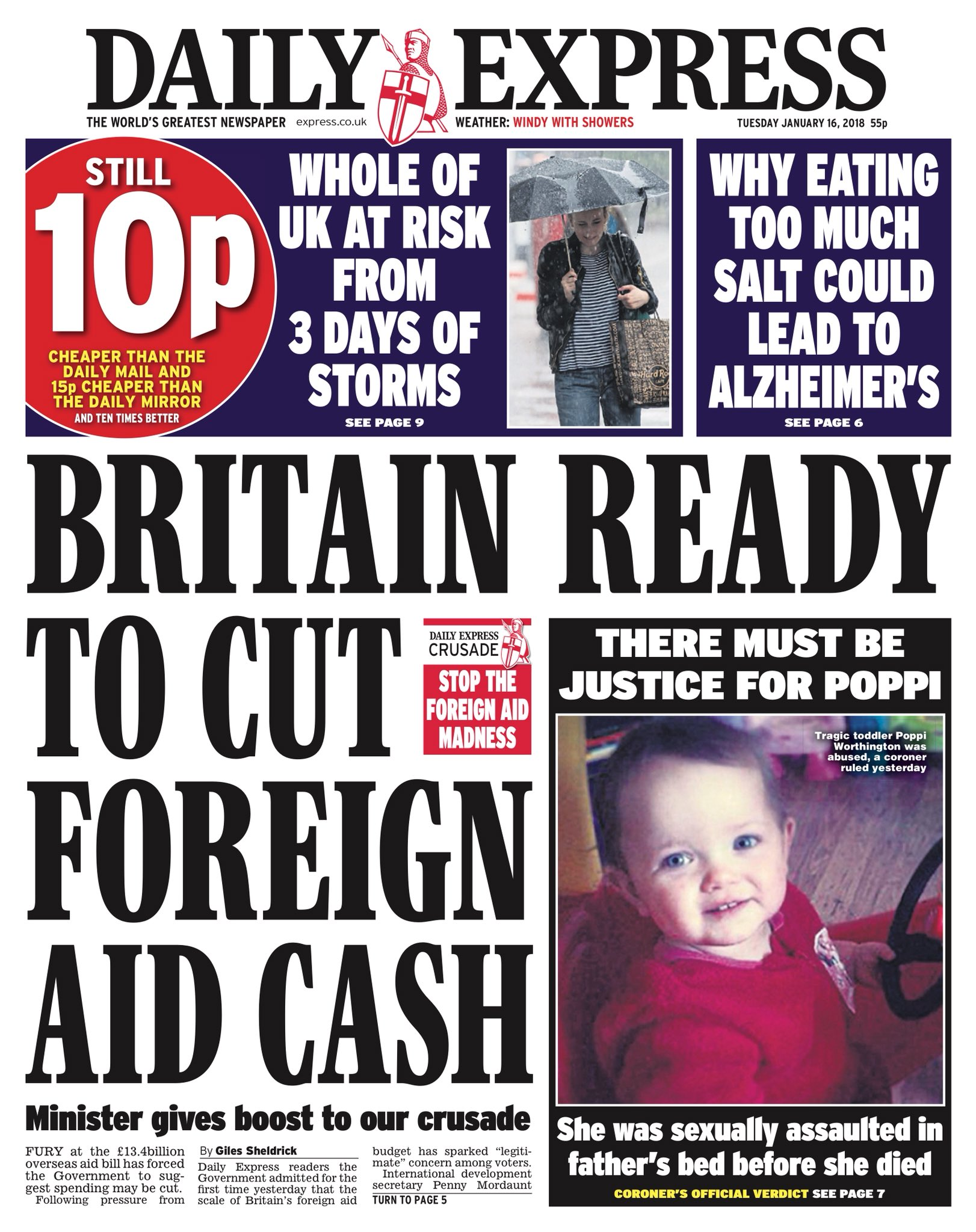 Tuesday's Express 'Britain ready to cut foreign aid cash'  #tomorrowspaperstoday #bbcpapers (via @hendopolis) https://t.co/ECcS86mHIr