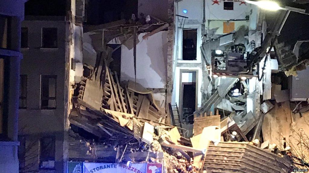 Blast brings down residential building in Belgian city of Antwerp, injuring several people  https://t.co/najOzdNGVp https://t.co/wVtCZCH8l9