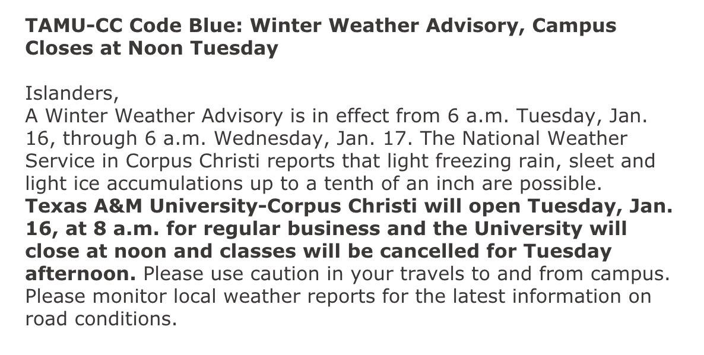 Winter Weather Advisory in eff winter weather advisory
