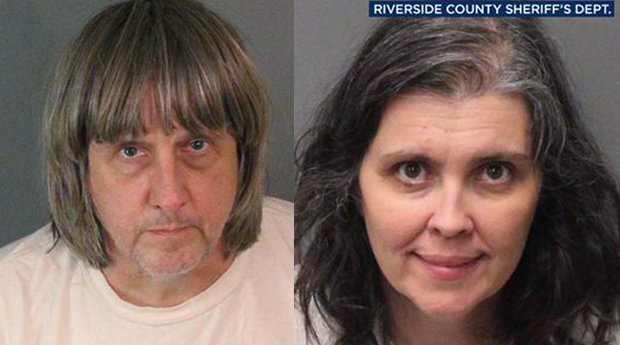Couple arrested after 13 brothers and sisters held captive