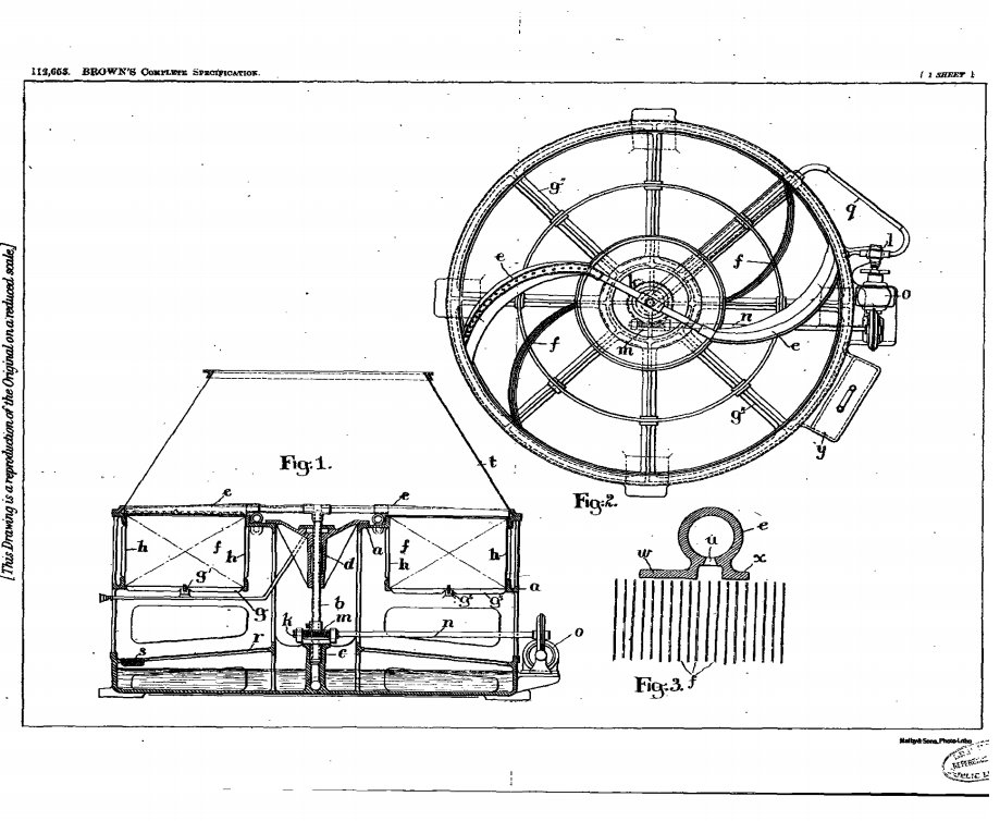 """test Twitter Media - #Patent #acenturyago  Completed Accepted Jan. 16, 1918 #112,653 """"This invention related to apparatus capable of being used for the cooling, humidifying and filtering of air or other gas for ventilating or other purposes"""". https://t.co/ho9jb3zvc8"""