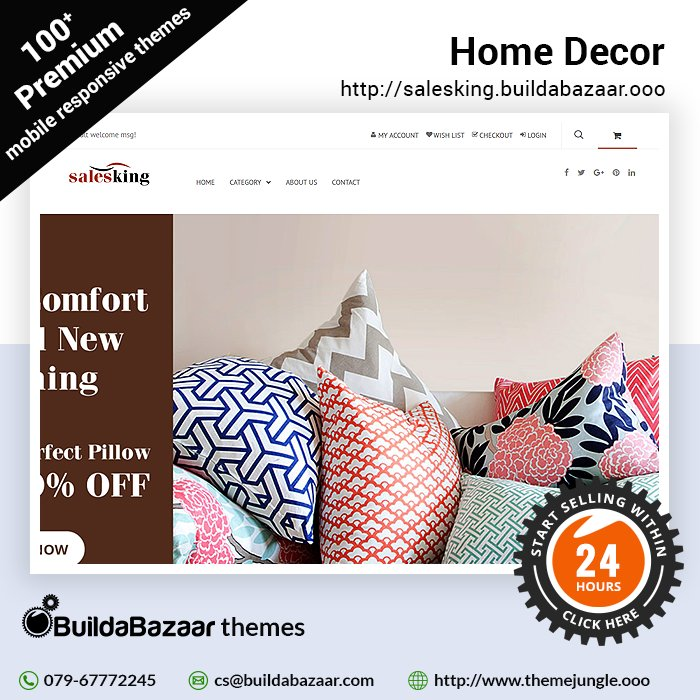test Twitter Media - Create a stunning website for your #HomeDecorstore with the Home Decor theme @themejungles Display your enticing & beautiful collection with ideas to impress customers at the first glance. https://t.co/wd5R2IHqqw #infibeam #buildabazaar #themejungle #buildabazaarthemes https://t.co/u8oT3pC2P0