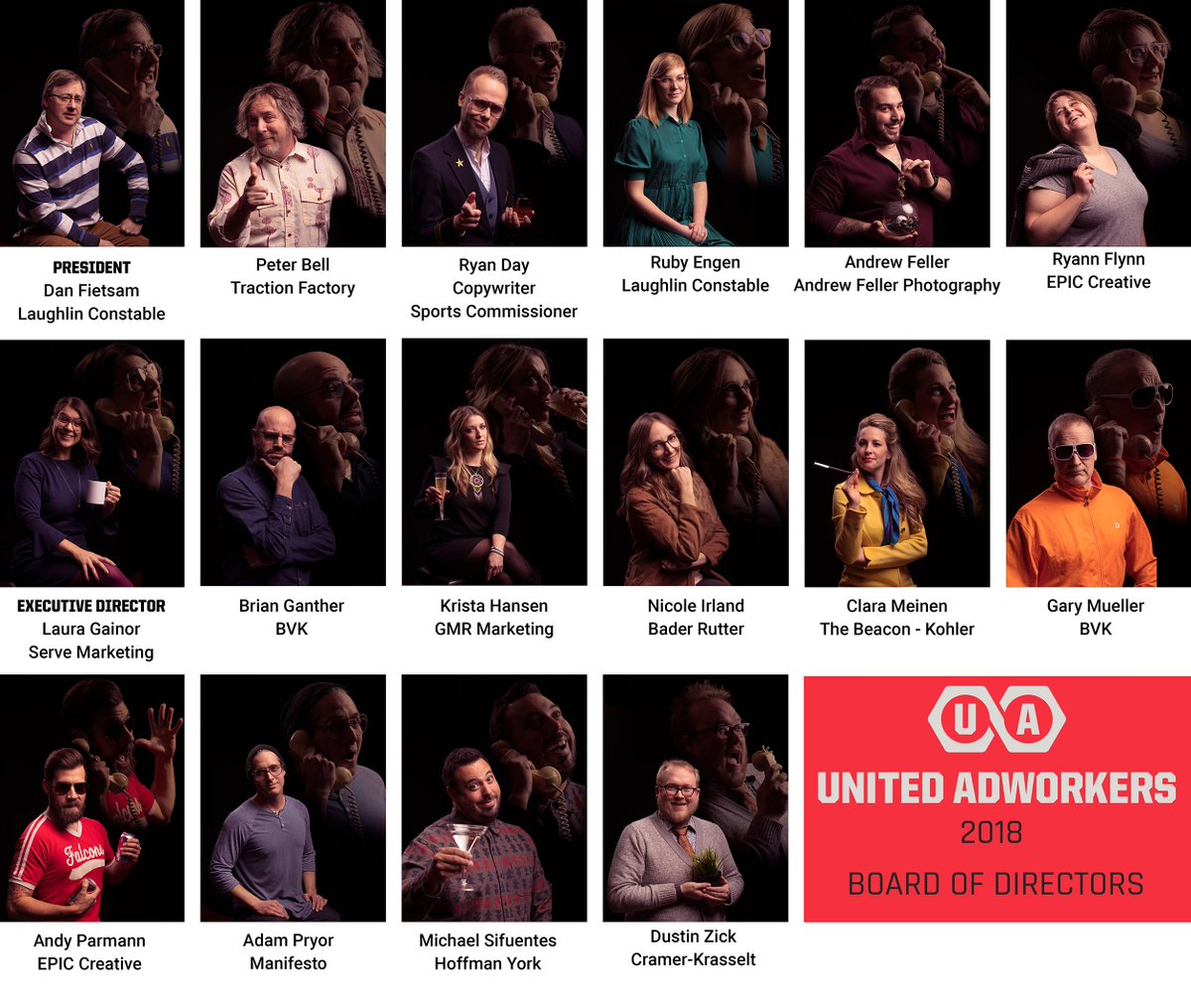 Announcing your 2018 #Adworkers President & Board! Join us this Thursday @BestPlacePabst for the member party. https://t.co/ZtPAXnYirf Pics by @andrewfeller https://t.co/7yr1BGqXGI