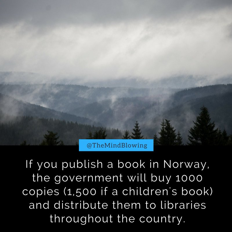Why Norway is the best place in the world to be a writer: https://t.co/l9gkrvmAJm