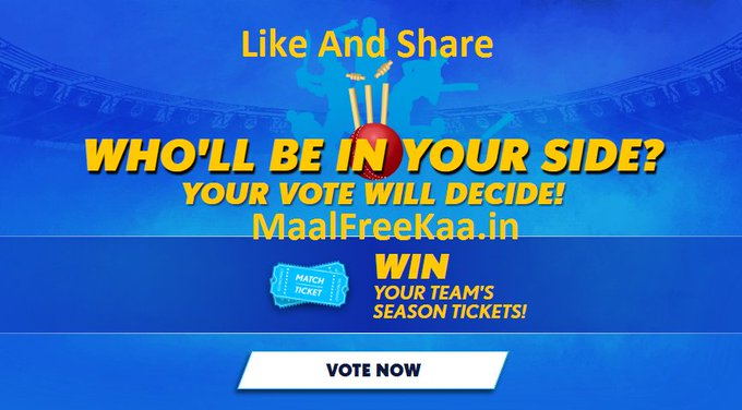 Free Ticket IPL 2018 Vote Now Contest