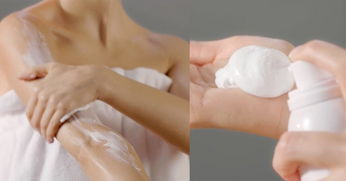 Foam body lotion will absolutely save your dry skin this winter:...