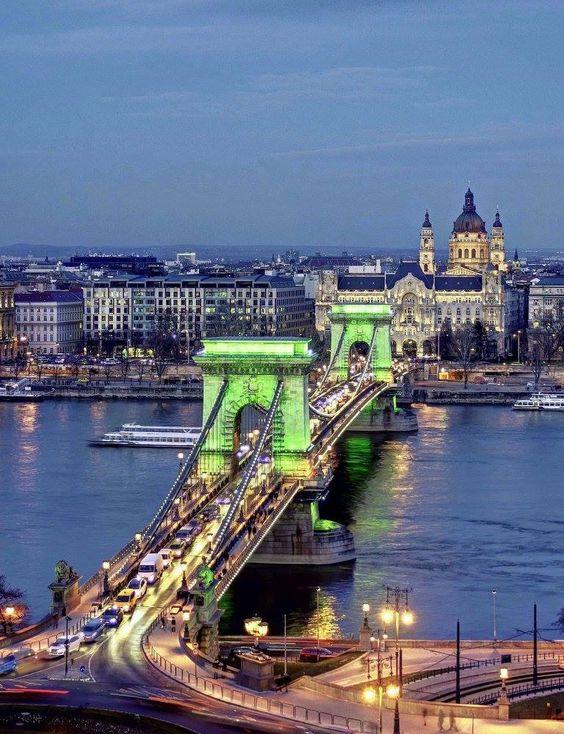 test Twitter Media - RT @_ahsanR: The Chain Bridge and St. Stephen's Basilica Budapest, Hungary #photo Nagy Gábor István https://t.co/tWEauaonDq