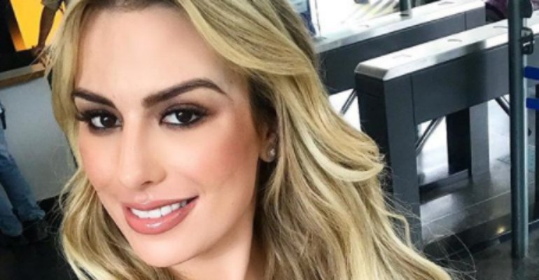 Fernanda Keulla. Foto do site da Caras Brasil que mostra Fernanda Keulla revela 'crush' em Daniel Manzieri
