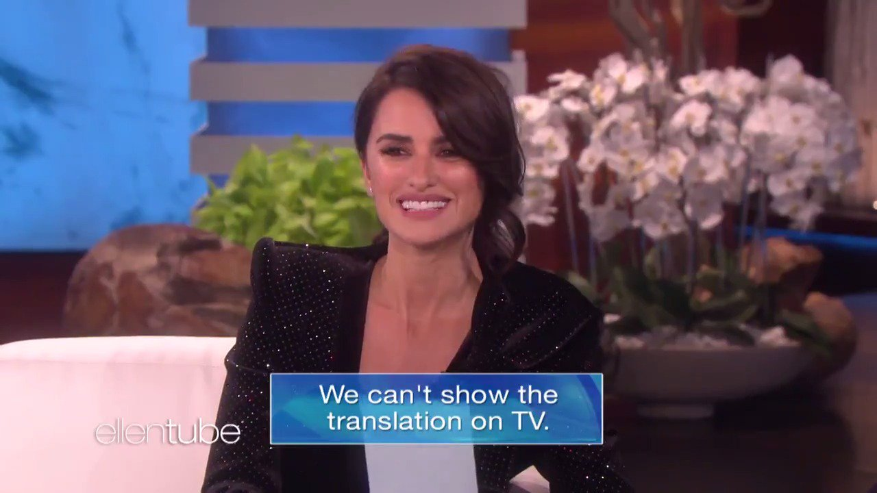 I learned some interesting words from Penelope Cruz, or as they say in Spanish, Penélope Cruz. https://t.co/Qp79UehTV2