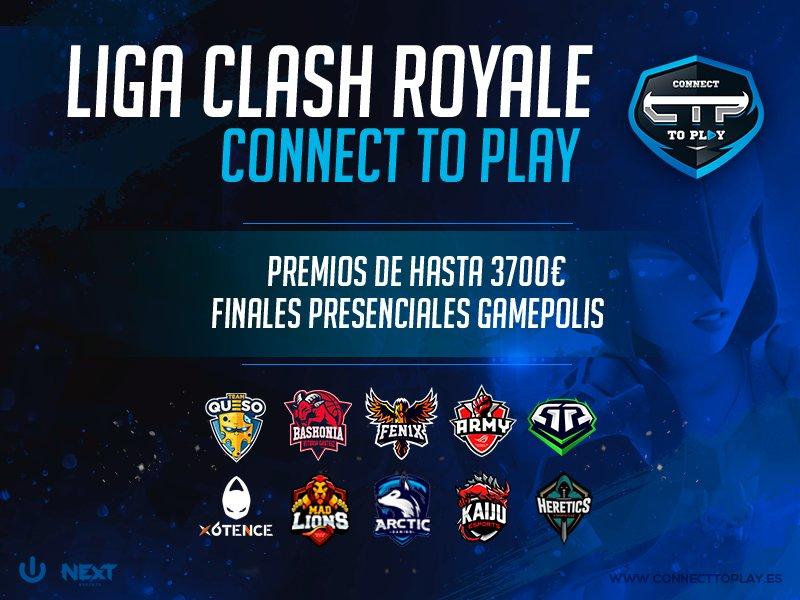 ¡Participaremos en la primera edición de la liga de Clash Royale @ConnectToPlayES!  Conoce toda la información sobre la competición en:  ➡️https://t.co/XKloS9UdyD https://t.co/JIkuYHIM2o