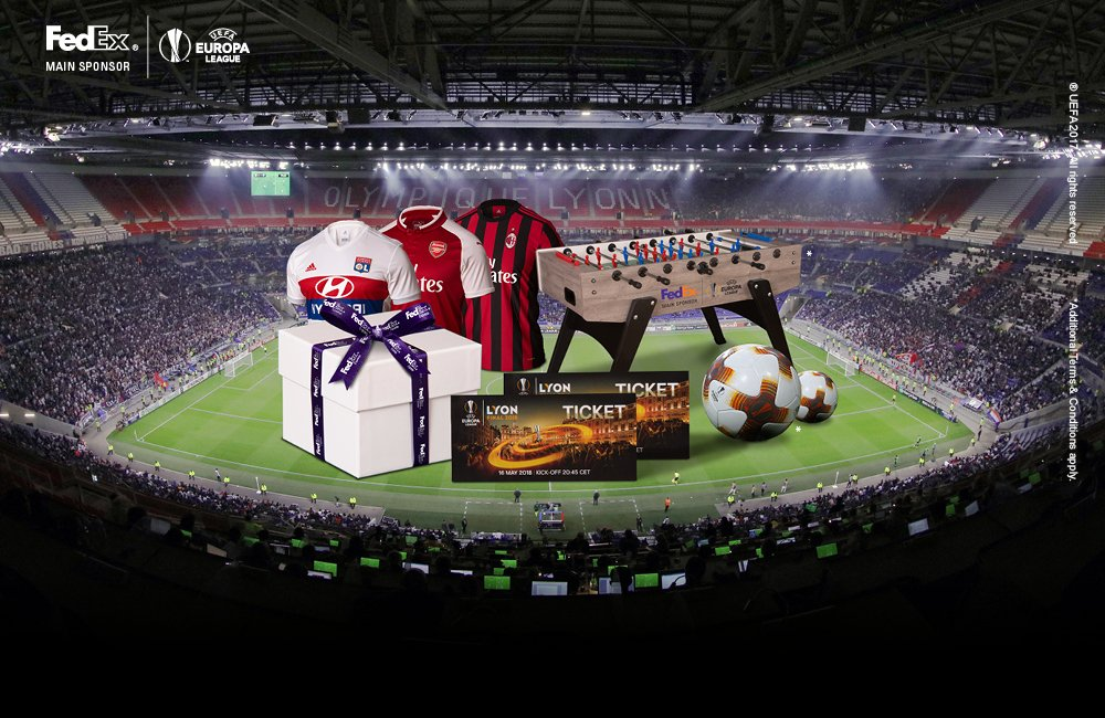 FedEx is giving you the chance to WIN tickets to the #UELfinal in Lyon 🤩  👉👉👉  https://t.co/VMQZuU8LnX to enter. Good luck!  #GameChangingDelivery @FedExEurope https://t.co/mYwRGdClPG