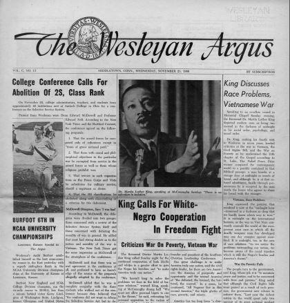 test Twitter Media - Dr. Martin Luther King, Jr.'s visits to Wesleyan  @wesleyanargus  https://t.co/ZjiLSB1DNV https://t.co/re1TSzFGcn
