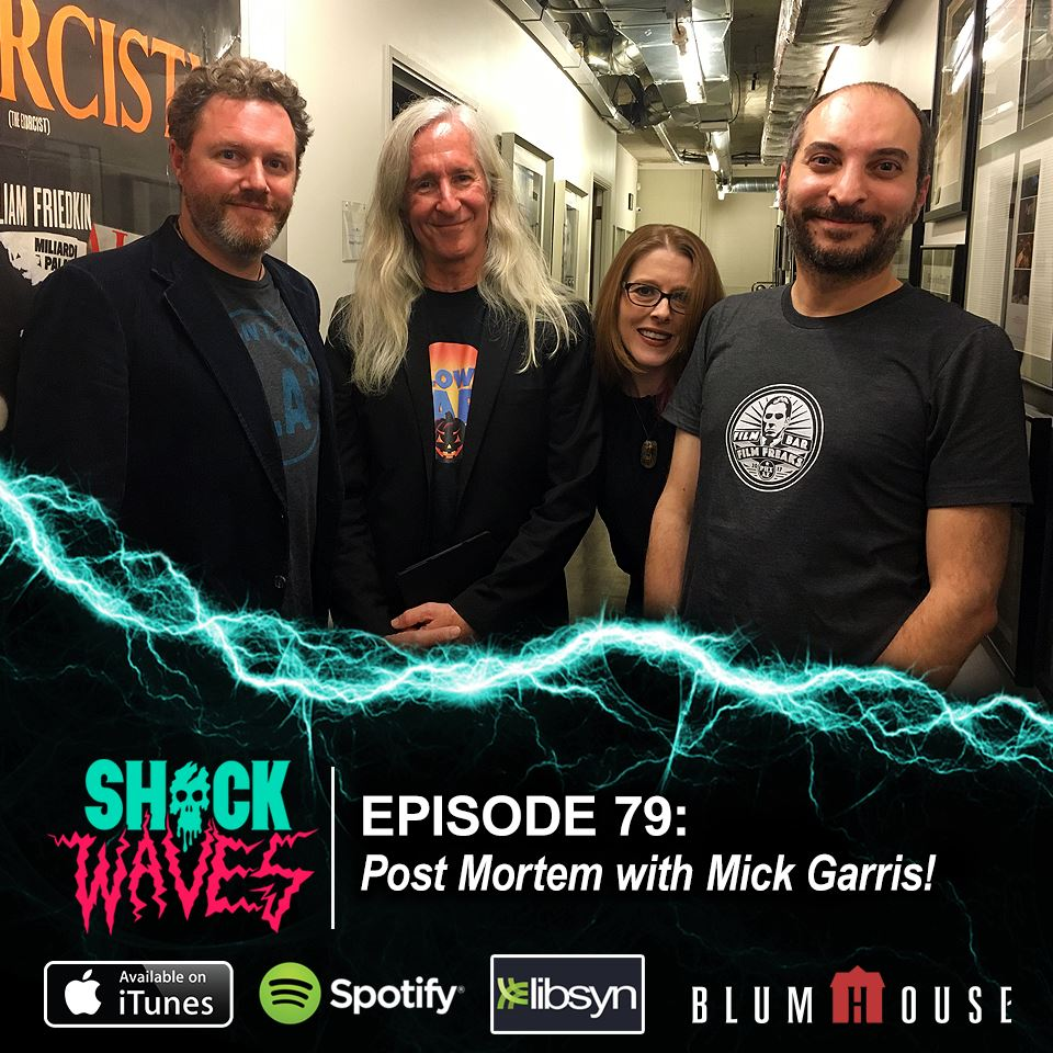 Blumhouse's Shock Waves Podcast Episode 79: Post Mortem with Mick Garris! We have some big news today! Now up on iTunes, Spotify, Stitcher, Google Play or direct: https://t.co/iDcKR4Yf9y https://t.co/wwqJuxpMMV