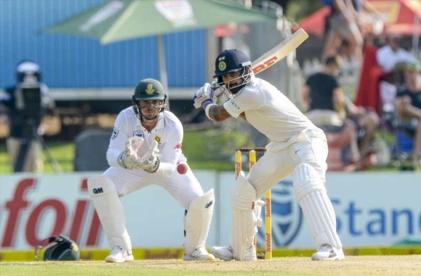 Kohli's dismissal livens up a match that had drifted into the doldrums