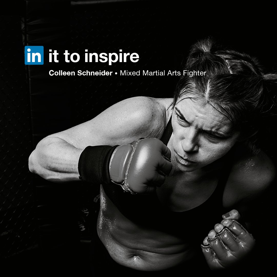 Colleen Schneider's desire to grow as a person drew her to mixed martial arts. A pacifist by nature, a fighter because she loves it. She's in it to inspire. https://t.co/F3sMlqLDan #InItTogether https://t.co/Qk3xM9nIUi