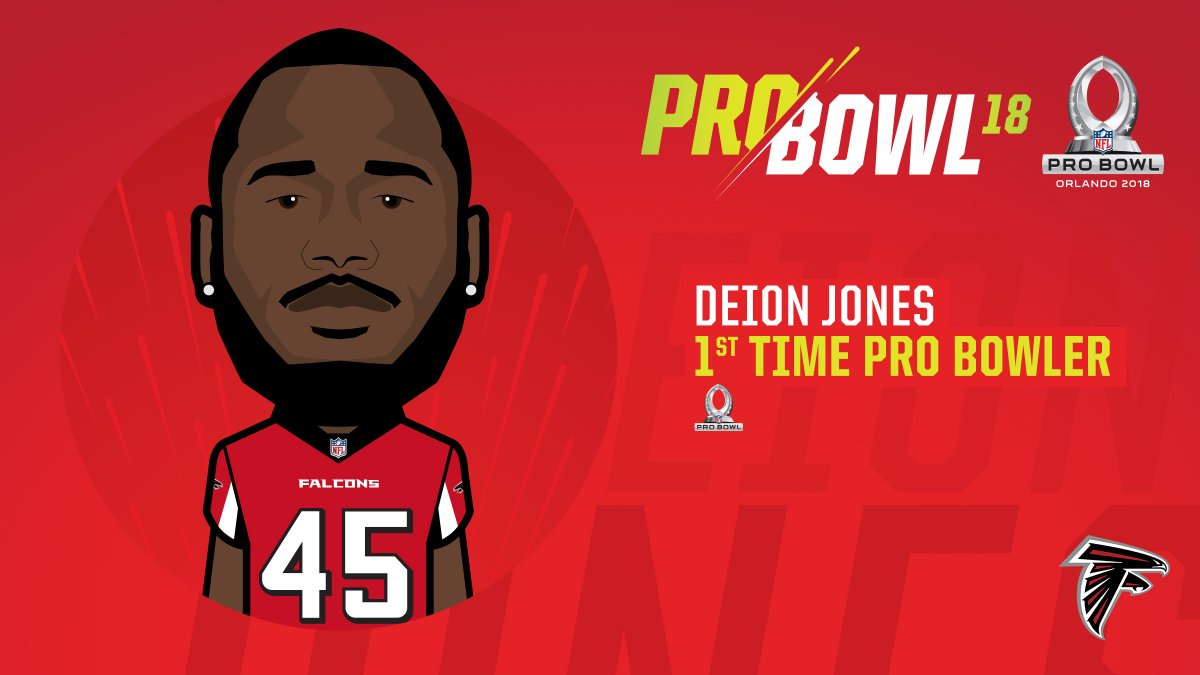 RT @AtlantaFalcons: Deion Jones has been named to his first Pro Bowl.   #InBrotherhood https://t.co/WUVeuERatF