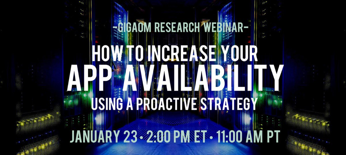 test Twitter Media - Join analyst @pbsellers  for free webinar on 1/23 sharing latest strategies to increase app availability in your #datacenter or the #cloud. Register! https://t.co/cHjbl99gPq #sponsored @totaluptime https://t.co/K6tuNT7Y0K