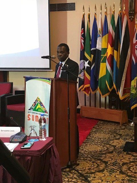 Dr Mitchell Participates in Prime Minister's Summit in Antigua
