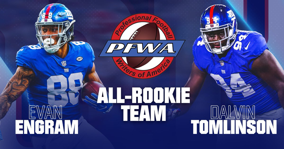 Congrats to @EvanEngram and @DalvinTomlinson, who both made the @PFWAwriters All-Rookie Team!  📰 » https://t.co/sLWzqSbmMX https://t.co/vBehPky0wO