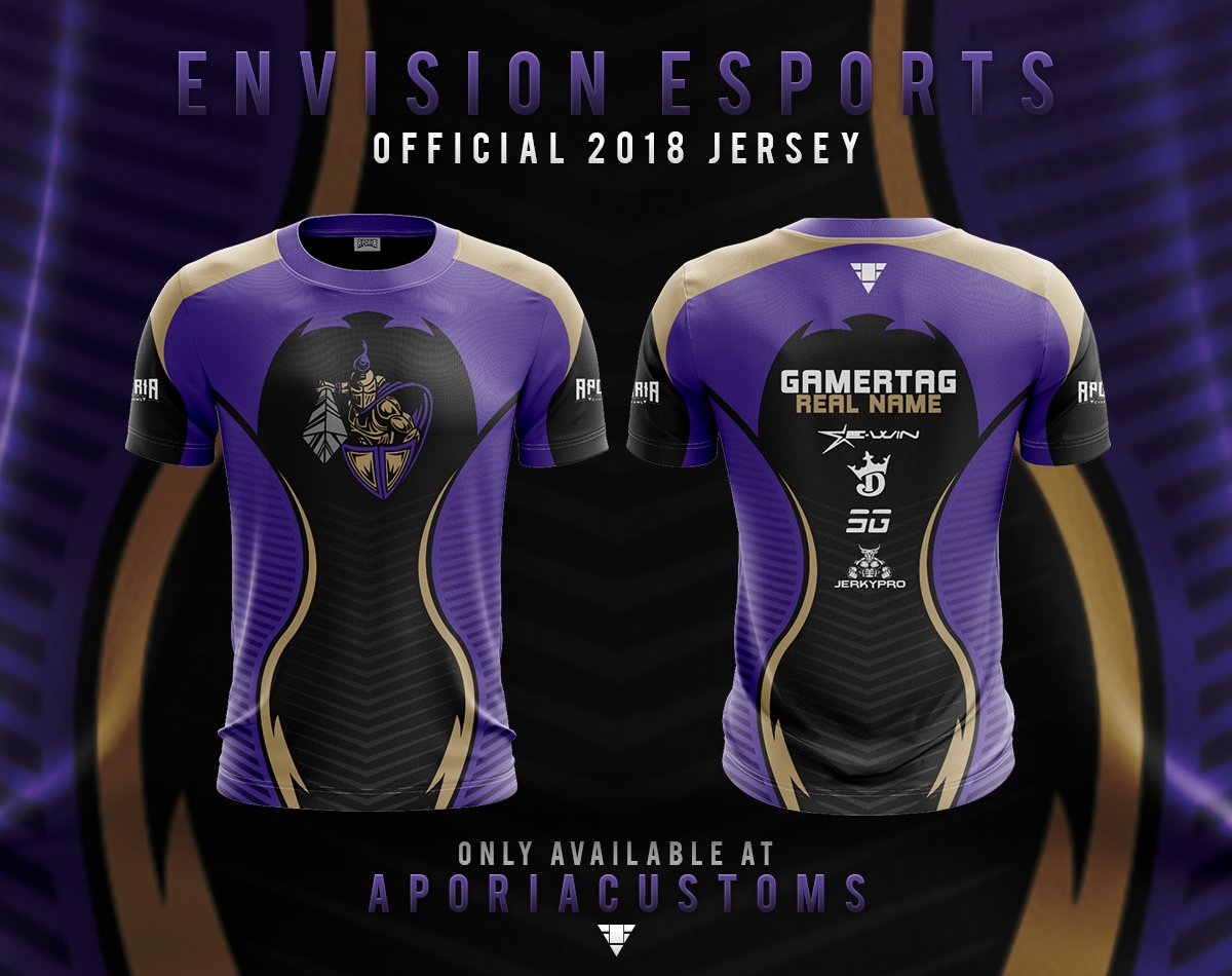 Be sure to go get your Envision Jersey! From @AporiaCustoms and use code EE at checkout. https://t.co/tuEfVixZ0r https://t.co/d8mQwKeEg1