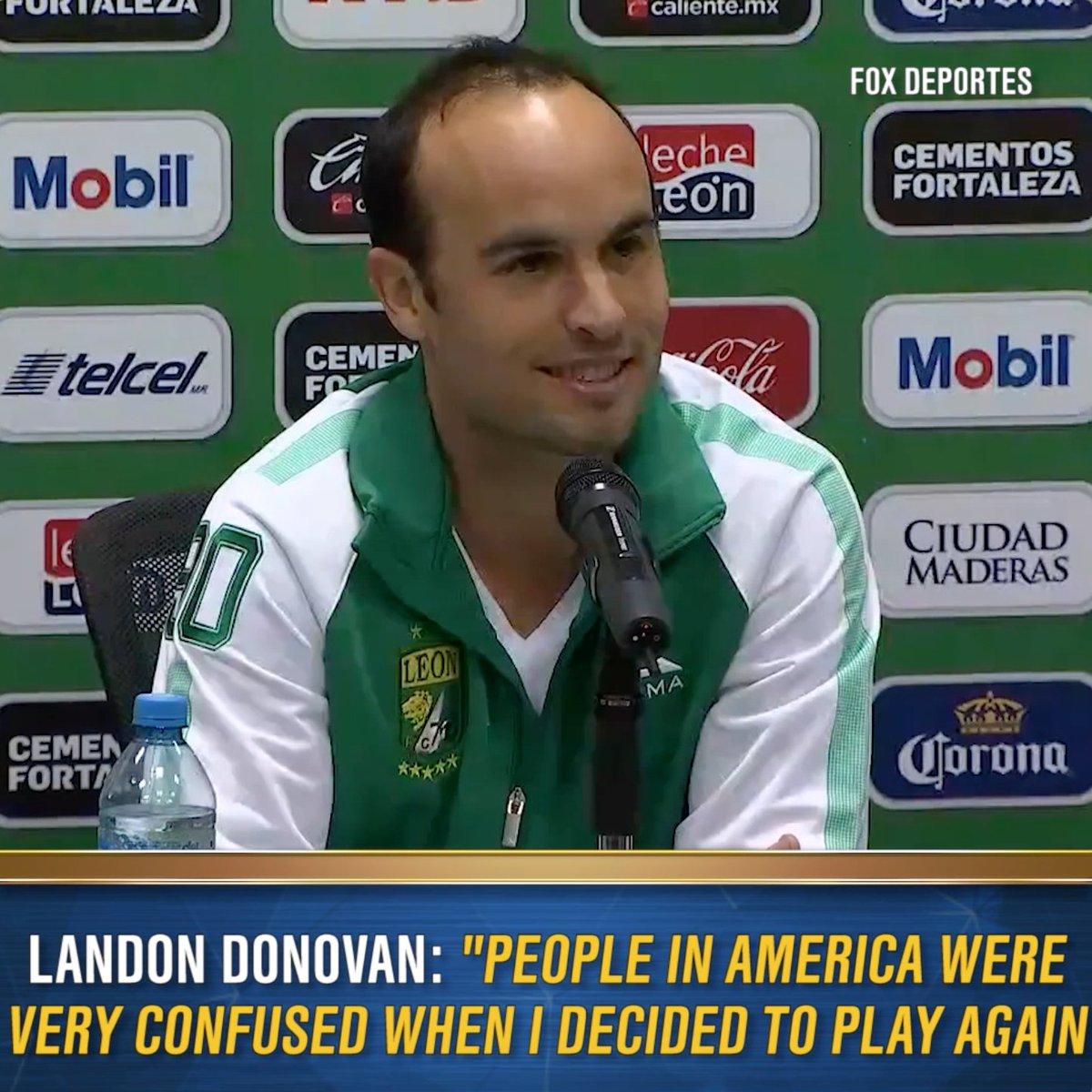 Landon Donovan has said it was landon donovan