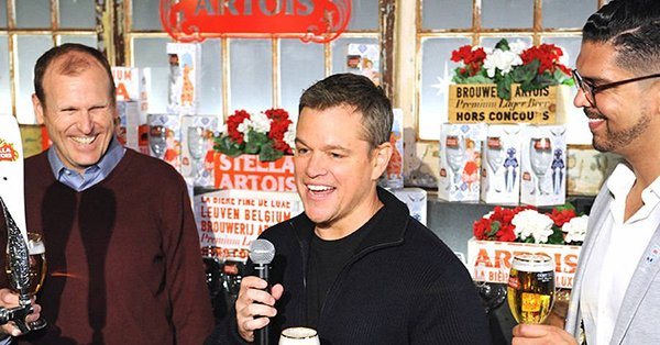 In Matt Damon's Super Bowl Ad he wants you to drink beer, but it's for a good cause.