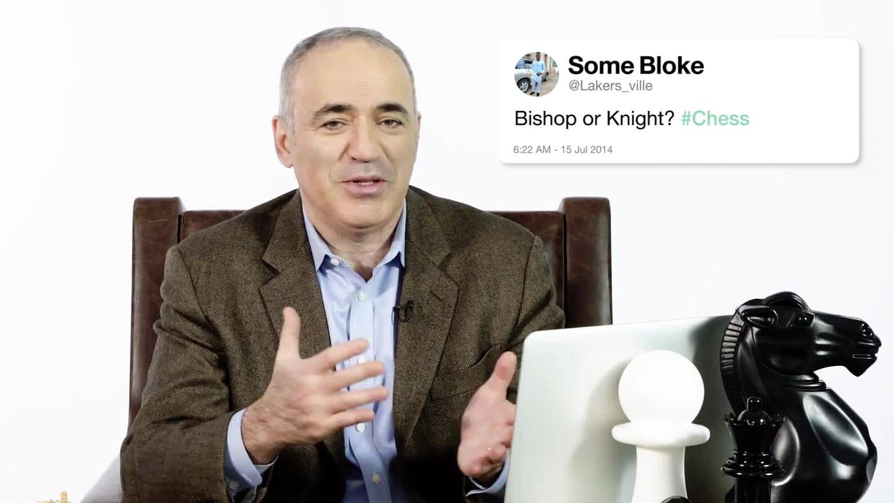 World Chess Champion @Kasparov63 answers your questions from Twitter https://t.co/l6XqCnrnyV