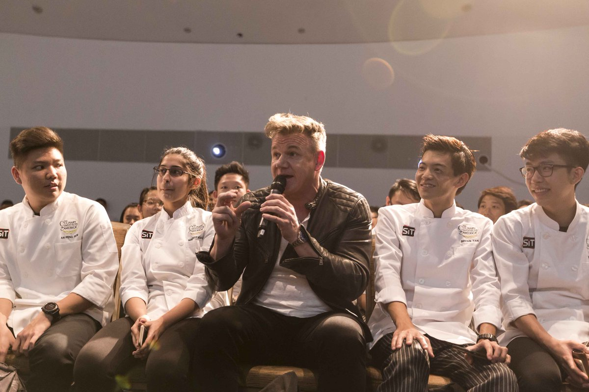 Celebrity chef Gordon Ramsay in Singapore for dialogue with local youths