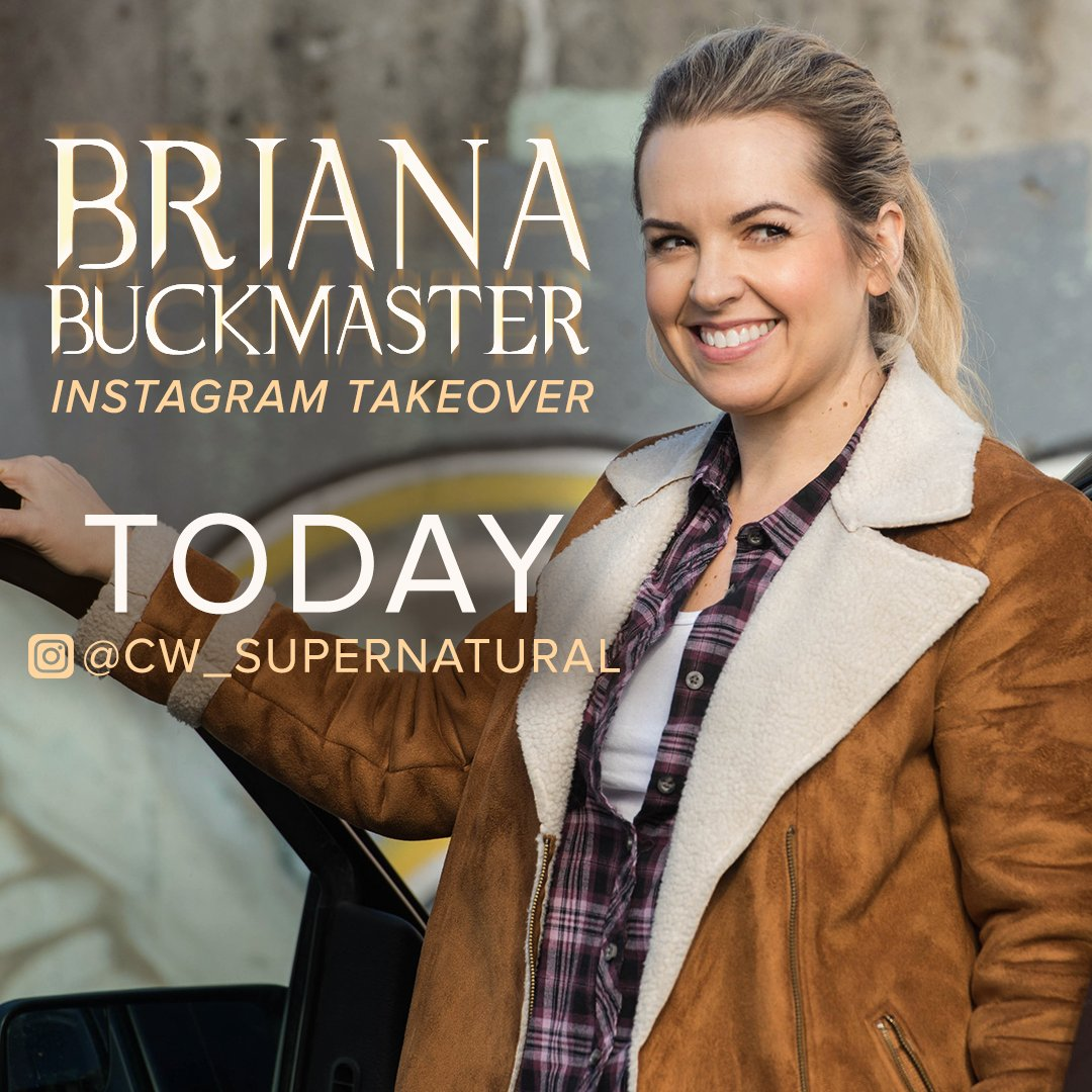 Okie dokie, #Supernatural fans. @OfficialBrianaB is taking over our Instagram TODAY!  https://t.co/FgdJBsf95T https://t.co/G7eVRG89vT