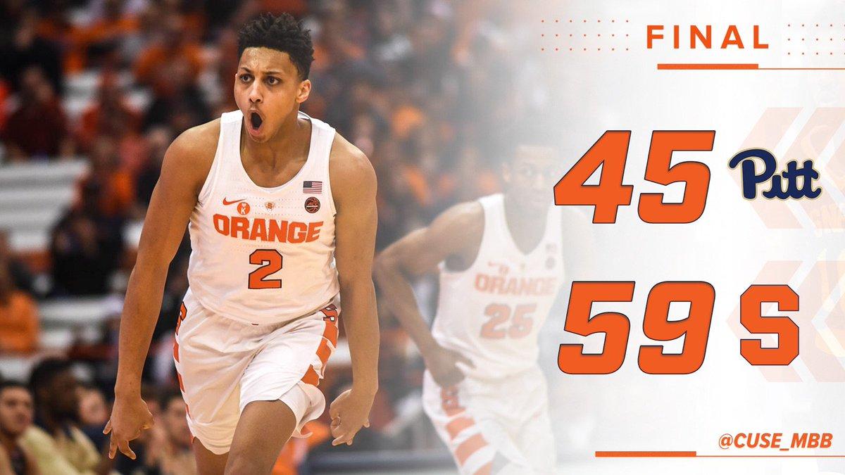 FINAL: Orange pull away with second-half run to defeat Pitt https://t.co/G0kDs9I5qd