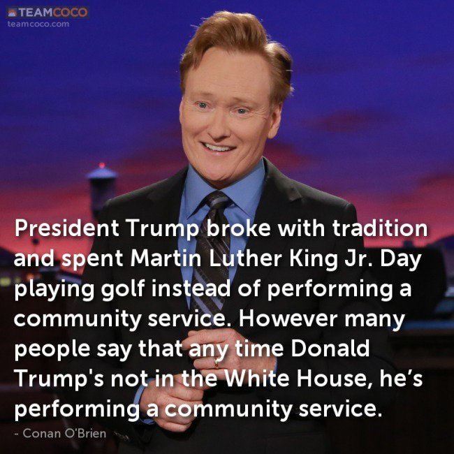 #Conan on Trump's community service and more @ https://t.co/eoENMEmNsY https://t.co/qy3C6Z7d0U