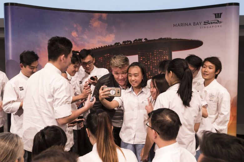 Gordon Ramsay gives young fans food for thought at Q&A session