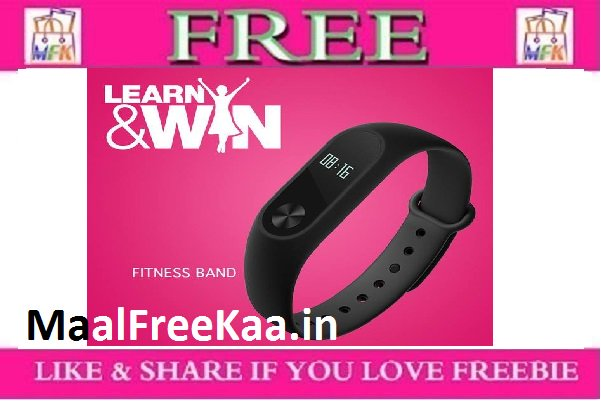 Learn & Win Survey Win Free a Mi Fitness Band