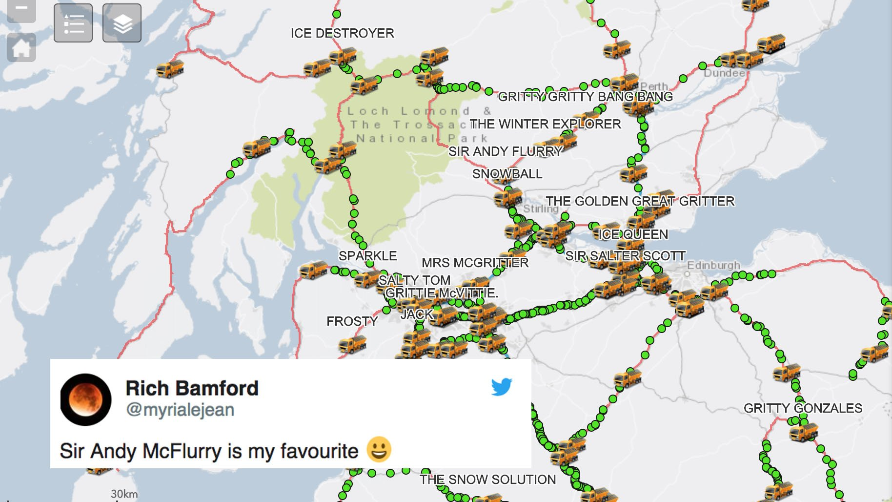 You can track gritters in Scotland and they have incredible names https://t.co/IRETPIqE6P https://t.co/GTehlLxhAu