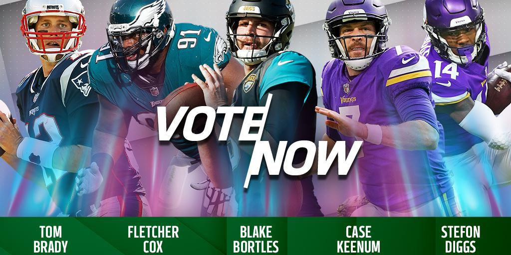 Brady. Cox. Bortles. Keenum. Diggs.  VOTE for the @CastrolUSA #ClutchPerformer of the Week: https://t.co/7zlbmBuCWa https://t.co/am2ReYULkT
