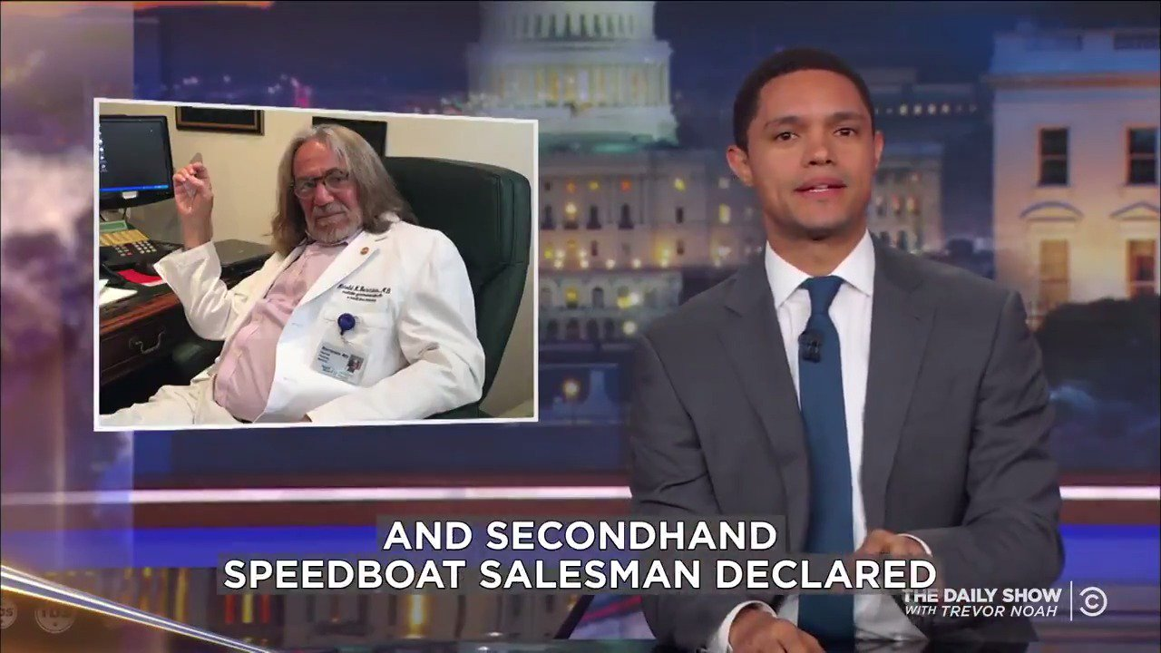 """President Trump is in """"excellent"""" health and we owe his secondhand speedboat salesman doctor an apology. https://t.co/dW2UZppYS5"""