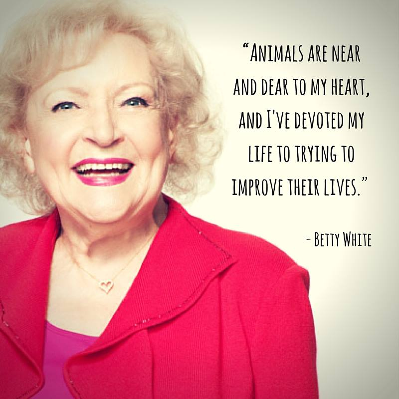 RT @MercyForAnimals: Happy birthday, #BettyWhite! Thank you for being a voice for animals! ???????????????????? https://t.co/j51dtOYThF